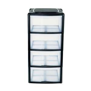 4 drawer tower storage unit Reduced to £9.99 @ poundstretcher