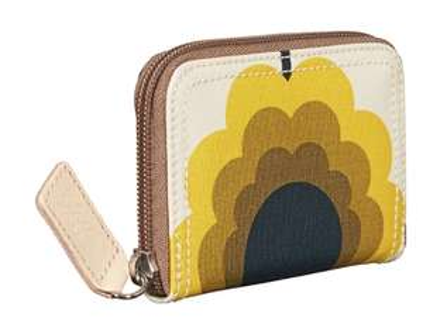 Orla Kiely Sale Half Price Summer Flower Med Zip Wallet in Sunshine £30 / £35 delivered @ Orla kiely