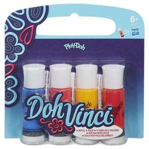 Play-Doh Doh Vinci Deco Pop 4 pk - £4 delivered at Tesco sold by The Entertainer