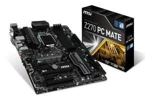 MSI Intel Z270 PC MATE LGA 1151 ATX Motherboard, £66.99 at Ebuyer