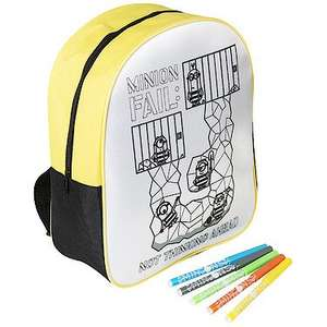 Despicable Me 3 Colour Your Own Backpack Only £2 Free C&C with £10 spend / £3.99 P&P @ The Entertainer