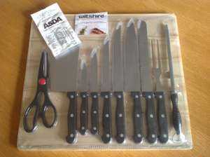 Wiltshire 11 piece knife & cutting board set £4.50 @ Asda in store - Farnworth.