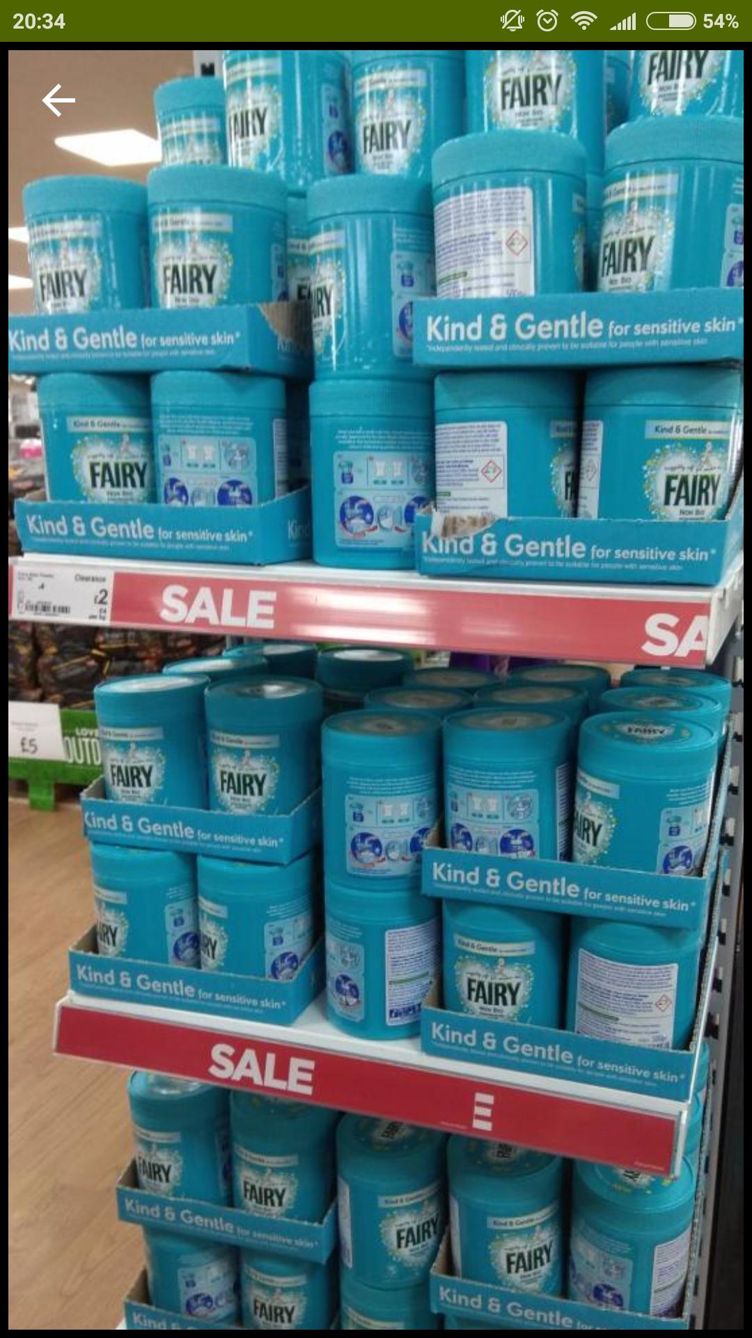 Fairy Non Bio Stain Remover Powder 500g - £2 @ Asda living