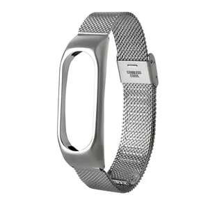 Stainless Steel Wristband for Xiaomi Mi Band 2 - Silver £2.12 delivered @ Rosegal