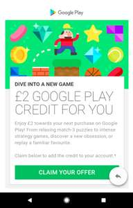 £2 Free Google Play account credit (Selected accounts) [Check emails]