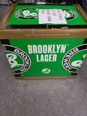 Brooklyn Larger craft beer case of 12 £7 @ Asda instore