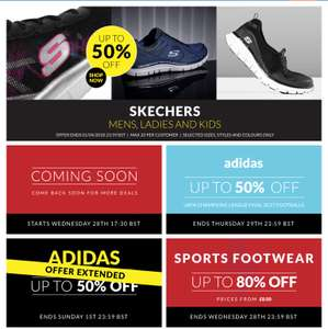 Skechers and Adidas upto 50% off + Extra 20% off Everything in store discounts on your bill @ Sports direct
