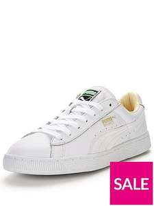 Puma Basket trainers (mens white or black tennis shoes) £28.60 @ very with free click & collect from your local shop