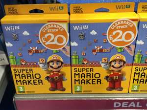 Super Mario Maker (£20) Wii U Clearance Stock @ Smyths toys Ipswich