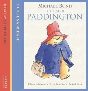 The Best of Paddington on CD: Complete & Unabridged Audio CD – Audiobook, CD, Unabridged by Michael Bond  (Author), Stephen Fry (Reader) - £12.25 delivered @ Amazon