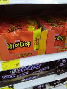 5 Toffee Crisp £1 at B&M