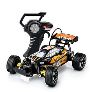 15kph Radio Controlled High Speed Motor with Racing Tyres for On Off Road Play Indoors or Outdoors 27Mhz (Colour Varies) £19.97 prime / £24.72 non prime Sold by PLAYTECH LOGIC LTD and Fulfilled by Amazon