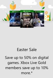 MICROSOFT XBOX EASTER SALE 55% OFF