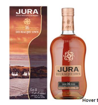 Jura Diurach's Own 16 year old scotch malt whisky 70cl £30 @ Asda