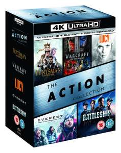 The Action Collection (4K Ultra HD Boxset) [UHD] 10 Discs (5 x 4KUHD / 5 x Blu-ray) £36 delivered @ Zoom
