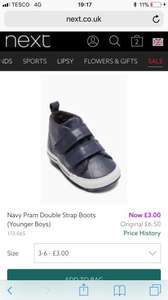 Next navy double strap pram shoes - £3 @ Next