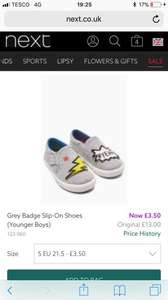 Next, young boys size 5 superhero style slip on shoes £3.50