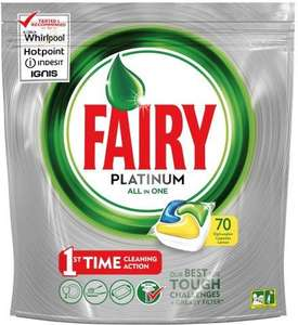 Fairy Platinum All In One Dishwasher Tablets. 2 packs of 70 for £14.38 @Costco from 2nd April to 22nd April.
