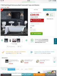 Better bathrooms Easter sale, bathroom suite and wastes and taps 70% off plus 20% off?!