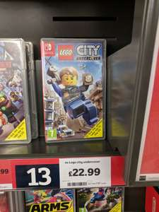 Lego City Undercover for Nintendo Switch £22.99 instore @ Sainsbury's