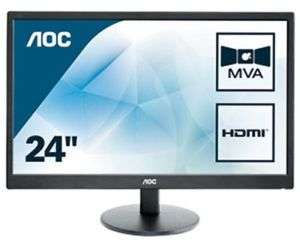 AOC M2470SWH 23.6 inch LED Monitor - Full HD 1080p, 5ms Response, Speakers, 2x HDMI for £75.64 using code @ CCL eBay Store
