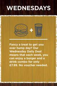 Burger & Pint £7.99 @ Stonehouse Restaurants