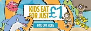 Kids can eat for £1 @ Stonehouse Restaurants
