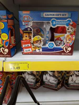 Paw Patrol Easter gift set with Egg Chocolate , cup, mug and spoon for £2.99 Poundstrecher