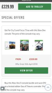 Xbox One S 1TB Player Unknown's Battlegrounds Console Bundle with Far Cry 5 & Forza 7 for £229.99 @ Argos