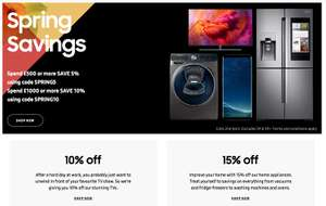 SPEND £500 OR MORE SAVE 5% USE CODE SPRING5 | SPEND £1000 OR MORE SAVE 10% USE CODE SPRING10 at Samsung