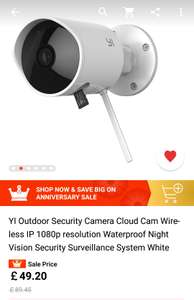Yi wireless outdoor security camera 1080p £49.20 AliExpress / yi Official Store
