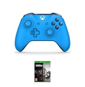 Xbox One Blue or Red Wireless Controller Plus Rainbow Six Siege Digital Download - £39.99 - Game