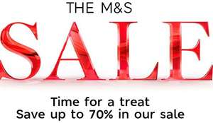 M&S Up to 70% off Sale now on - in-store & online
