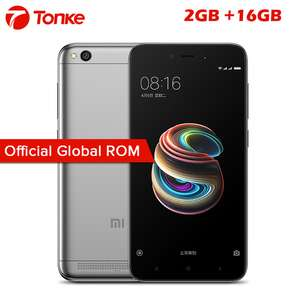 Global ROM Original Xiaomi Redmi 5A 2GB RAM 16GB ROM Snapdragon 425 Quad Core CPU 5.0 Inch 13.0MP Mobile Phone £62.26 Ali express / Tonke Digital Store