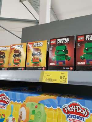 Lego brick heads 97p at Asda instore
