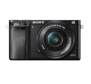 Sony ILCE6000LB (A6000) Compact System Camera with SELP1650 Lens Kit£399 @ Amazon