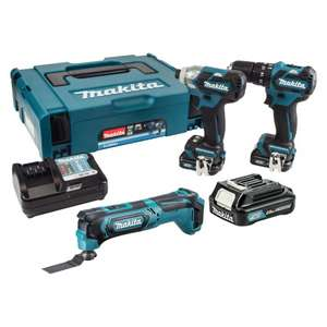 Makita 10.8v Brushless Combi And Impact Driver And Multicutter And 3 x 2.0ah Batteries And Charger And Carry Case £190.80 SELCO TRADE AND BUSINESS Customers