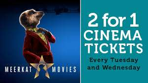 Meerkat movies 2 for 1 cinema tickets free with policy via Compare the market for as little as £1.17