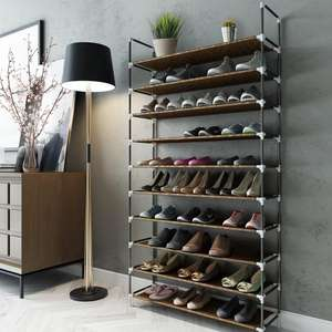 10-Tier Shoe Rack for approx 50 pairs of Shoes now £12.99  Delivered Sold by Sunvalleytek-UK / Fulfilled by Amazon