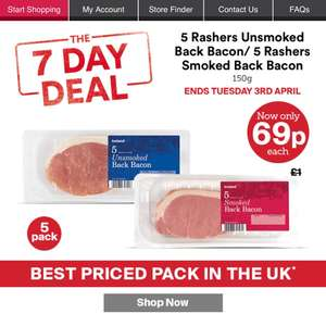 Iceland 7 day deal - 69p bacon