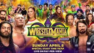 "WWE WrestleMania 34, NXT TakeOver New Orleans AND the ""Greatest Royal Rumble"" in Saudi Arabia WWE Live event for FREE when you sign up to a free month of WWE Network."