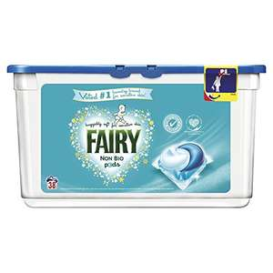 Fairy Non Bio Washing Liquid Capsules For Sensitive Skin - Pack of 3 (114 Washes) £18 Amazon prime exclusive
