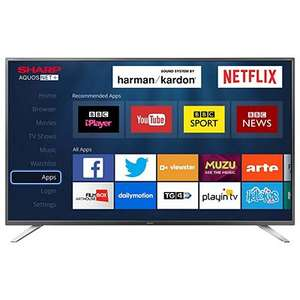 Sharp LC-49CUG8052K 49inch Smart 4K UHD TV with Freeview HD £369 (Free C+C / Delivery) @ Tesco Direct