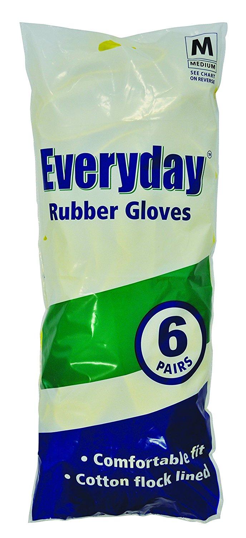 Medium rubber gloves x 6 £2.25 @ Amazon add on
