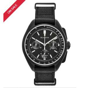 50% off Bulova Black 98A186 Special Edition Lunar Pilot Chronograph Watch £250 delivered at H Samuel