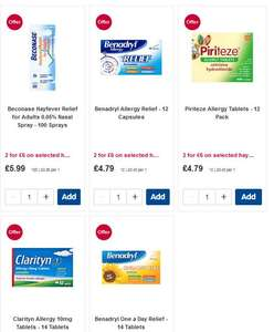 2 for £6 on selected hayfever products @ Boots