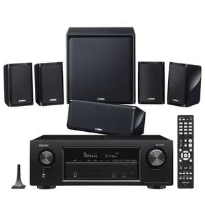 Denon AVR-X1400H Receiver with Yamaha NSP40 Speaker Package £379 @ Superfi