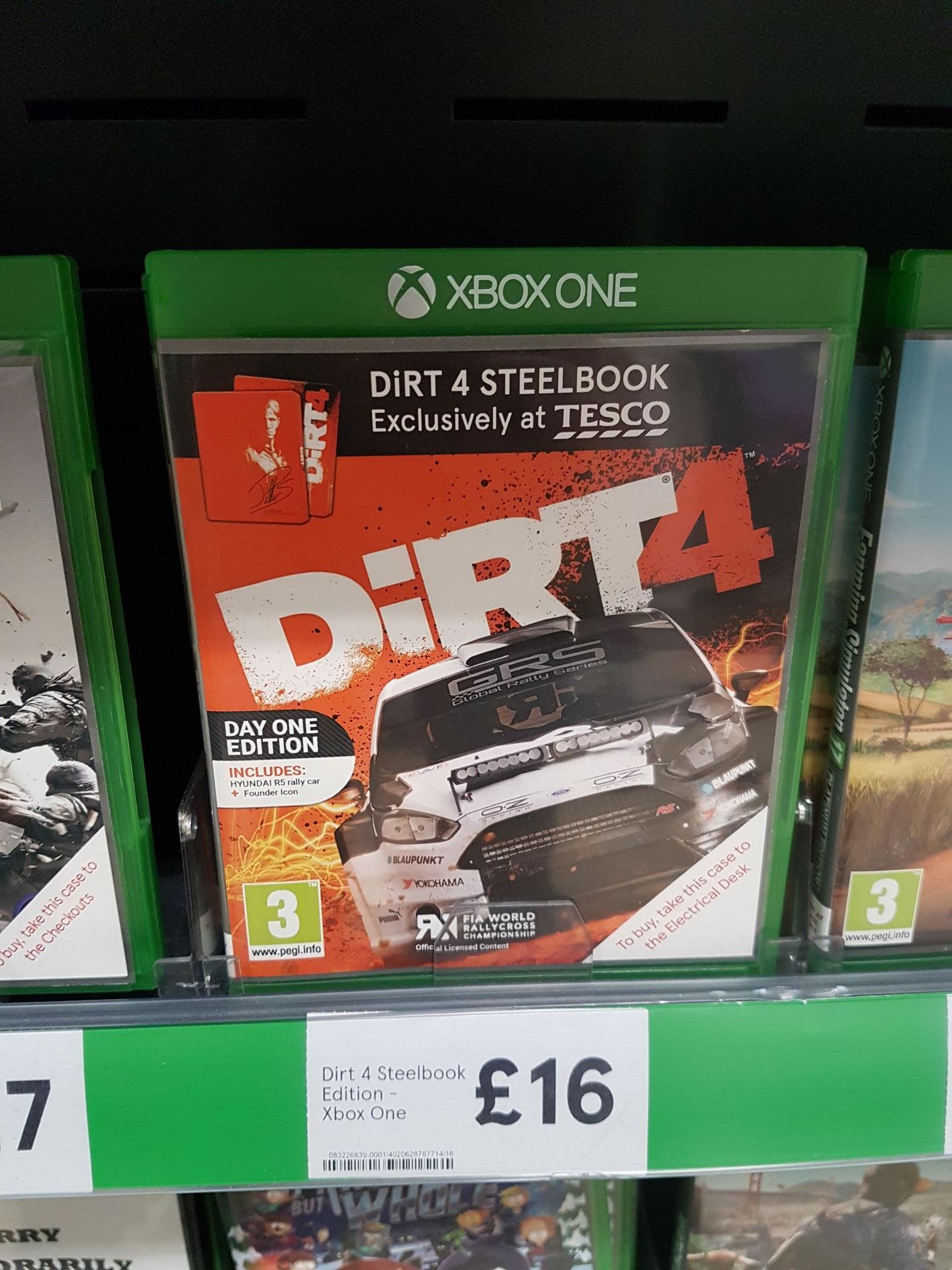 Dirt 4 Xbox One Steelbook £16  Tesco Long Eaton