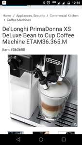 De'Longhi PrimaDonna XS DeLuxe Bean to Cup Coffee Machine - £599.89 @ Costco register and receive free gifts worth over £145