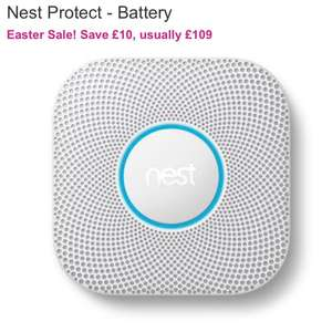 Nest Protect for £99, Save £10 Usually £109 @ BT Shop